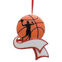 تخصيص مجاني - MAXORA حلية كرة سلة مخصصة لشجرة عيد الميلاد ديكور كرة السلة تذكارية هدية للرياضيين رياضي