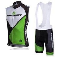 Merida Team Cykling Ärmlös Jersey Vest Bib Shorts Sätter Mountain Kläder Snabb Torkad Andningsbar Utomhuskläder Ropa Ciclismo H041605