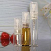 2ml 3ml 5ml atomizador recarregável pequeno spray perfume garrafa mini vidro frascos âmbar garrafas aromáticas cheiro vazio