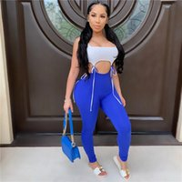 Sexy Patchwork Lace Up Jumpsuit for Women Summer Sleeveless Strap Bare Belly Skinny Rompers Female Streetwear Hollow Jumpsuit