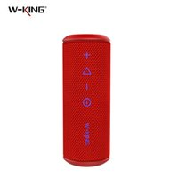 W-KING X6S 20W Super Bass portátil impermeável Bluetooth Speaker Com DSP Outdoor Cilindro Tecido Celular / Speaker Computer