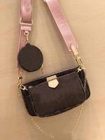 Meilleures vente de sacs d'épaule de sac à main de mode sac à main des sacs de téléphone porte-monnaie sac à main sacs combinaison de trois pièces Free Shopping M44823