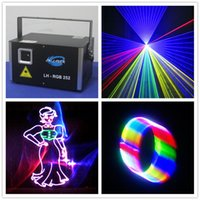 Mini 3000mW RGB Laser Lighting 3W Full Color Animation 3D Effect Light Projector
