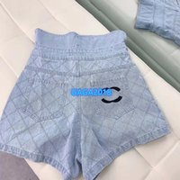 High-End-Frauen Mädchendenimshorts mini Jeans Rhombus Brief Motiv sexy lose a-line Hosen 2020 Sommer Mode-Design-Luxus kurze Hosen