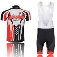 Team Merida Cycling Uniform Men Summer Manica Corta Bib Bib Pantaloncini Bib Set MRB Abbigliamento per biciclette Vendita diretta in fabbrica 031709