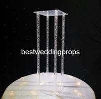 نمط جديد كريستال واضحة أكريليك ساحة زهرة رف كعكة عرض الزفاف عرض عيد ميلاد زهرة الوقوف best01127