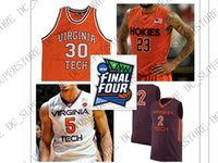 Custom 2019 Final Four Virginia Tech Hokies Basketball Jerse...