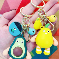 New Fashion Simulation Fruit Avocado Strawberry Keychain Fas...