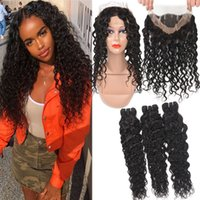Water Wave 9A Remy Brazilian Human Hair With 360 Full Lace C...