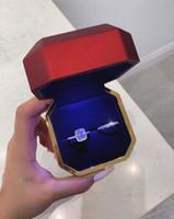 2 stücke heißer verkauf paar ringe luxus schmuck 925 sterling silber paar ring kissen form weiß topaz party frauen hochzeit braut ring set geschenk