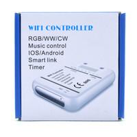 Original 16Million Colors WIFI 5Channelons RGB / WW / CW 5 en 1 Contrôleur de LED Contrôleur Smartphone Control Mode et Momètre Mode WIFI LED Controller