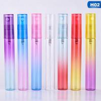 Hot 20PCS / LOT 4ML 8ml Botella de perfume de muestra portátil recargable de vidrio Atomizador en spray de viaje Botella de perfume vacía Mini contenedor de muestra