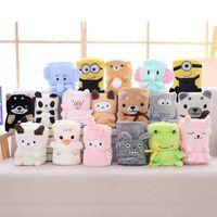 Novos Animais bonitos cama cartoon Mats macio flanela velo pata cópia do pé quente Blanket Pet Dormir camas para crianças Permite animais