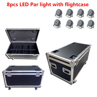 8X LED الاسمية ضوء مع flightcase 24x18W RGBWA UV 6in1 DMX مصباح لالمهنية دي جي إضاءة مسرح غسل ضوء