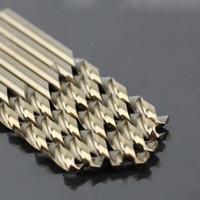 Freeshipping 19pcs / set M35 en acier HSS forets queue cylindrique Twist Bit Cobalt Mèches pour outils électriques métalliques Travail du bois Outils