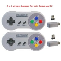 2 Reciever Wireless 2.4G Game Controller Joypad Joystick Controller para SNES para Super Nintendo Classic MINI para PC Windows USB
