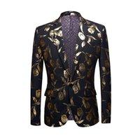الرجال Carffiv عارضة تناسب ضئيلة تناسب الرجال الربيع معطف الذهب النسيج عطلة حزب ارتداء الأعمال