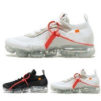 Nike Air VaporMax FK Vapores Fly 2.0 II Knit FK 2,0 Sapatos Masculinos Off Oeste VPM TN Mais de Designer Shoes Black White Casual respirável Sneakers Tamanho US 5,5-11 SZ03