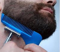 Barba strumento di formazione Styling Template BARBA SHAPER pettine di Template barba Strumenti di modellazione 10 COLORI nave da DHL