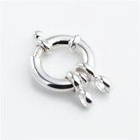 HOPEARL 925 Sterling Silver Jewelry anello elastico per il braccialetto collana che fanno i risultati dei catenacci di base Primavera Ring 3 Pezzi