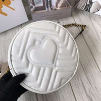 Fashion Genuine Leather round style cross body heart- shaped ...