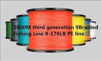 1000м экономически эффективных супер литой третий 9 прядей поколения 9Braided лески 8-176LB PE линия теста для соленой воды высокий-класс эффективность