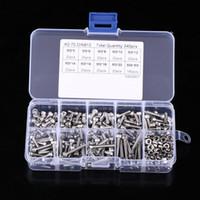 Envío gratuito 340 unids / Caja Tornillos de cabeza hexagonal Tornillos Tuerca M3 Tornillo de cabeza de acero inoxidable Juego de tornillos Kit de surtido de sujetadores Conjunto de herramientas de reparación