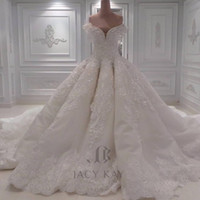 Luxurious Ball Gown Vintage Wedding Dresses Off Shoulder 3D-...