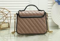 5 가지 색상 뜨거운 판매 Marmont 어깨 가방 여성 체인 크로스 바디 가방 핸드백 새로운 지갑 여성 가죽 하트 스타일 메시지 가방