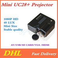 Mini UC28+ Portable 1080P HD Projector Home Cinema Theater M...