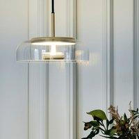 Pendentif minimaliste moderne Lampe lumineuse Nordic Plafond Vêtements Décoration Lampe à bille en verre pour salon Chambre à coucher Salle à manger