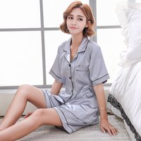 Women Home Suit Satin Sleeping Wear Set 2019 New Fashion Pij...