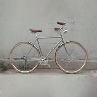 الدراجات الرجعية الدراجة الشظية 700C الثابتة والعتاد خمر المسار سرعة واحدة 52cm fixie أسود اللون الإطار