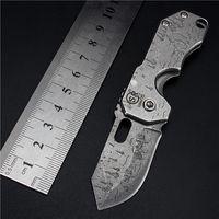 صلابة عالية مصغرة الطي سكين جيب التيتانيوم الطلاء الصغيرة التكتيكية الصيد السكاكين edc بقاء العتاد