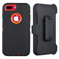Pour le cas de l'iPhone Defender avec clip de ceinture, Béquille, Heavy Duty, Dropproof, antichocs, écran intégré de protection robuste en caoutchouc