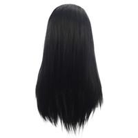 2019 mode weiche volle spitze perücken schwarz seidig gerade lange wigs für schwarze frauen hitzebeständige glueless synthetische spitze frontperücken
