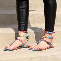 Hot Sale-iator Sandali piatti con borchie Pietre flip Scarpe economici sandalo grande formato progettista delle donne di estate 9025 #