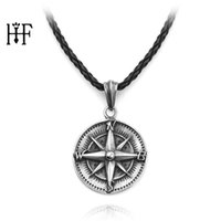 New Fashion Jewelry Vintage Punk Zinc Alloy Compass Charms Necklace Pendant&Necklace DIY Rope Chain Wanderlust Gift