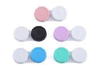Контактные линзы Box Красочные контактных линз чехол для глаз путешествия Kit контейнеродержатель бесплатной доставкой