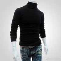 Men Bottoming Tops Fall Slim Sweaters Warm Autumn Turtleneck...