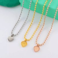 2017 Design Luxury Heart Love Collana per le donne Acciaio inossidabile Marca Accessori C Zircone Cuore Love Necklace For Women Jewelry