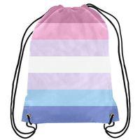 LGBT-Tasche Regenbogen-Rucksack-Stolz Homosexuell Rosa LGBT-Tasche Sport-Geschenk Fertigen 35x45cm Polyester Digital Printing für Frauen Kinder Tra