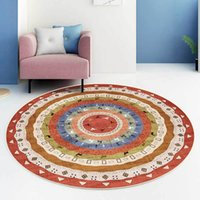 Fashion Bohemian Carpets Ethnic Style Round Area Rugs Living...