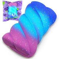 15 cm Sevimli Sıkmak Squishy Oyuncaklar Galaxy Yıldızlı Renkli Yumuşak Hatmi Yavaş Yükselen Squishies Ekmek Kokulu