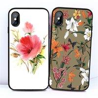 telefone celular shell flor padrão de Silicone Case Capa Para iPhone11 / 6/7/8 / XR / XS Atrás Proteger Rubber SJK07 Telefone