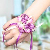 art tissu mariage fournitures simulation coréenne de mariage perle poignet fleur de mariage de demoiselle d'honneur poignet fleur main groupe soeur fleur T4H0224