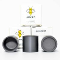 Au cours de l'arrière-marche 30 septembre JCVAP Silicone Carbide SIC V3 Insérer Bol pour Atomizer Remplacement Cire Vaporisateur Technologie de Coils
