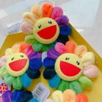 Nette Kinder Blume Takashi Murakami Kiki Kaikai Brosche Regenbogen-Abzeichen-Bügel-Plüsch-Anhänger