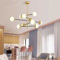 현대 패션 유리 거품 공 펜던트 빛 샹들리에 팝 매달려 천장 조명 홈 거실 장식 PA0388