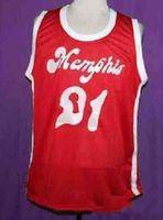 Benutzerdefinierte Basketball-Jersey Vintage Larry Finch MS Red Sounds Retro 1972-74 Home # 21 MASH-Stoff Full Stickerei Größe S-4XL Jeder Name oder Nummer